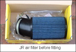 JR air filter before fitting